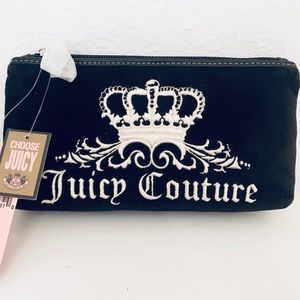 NEW Juicy Couture Cosmetic Pouch, Black Velour